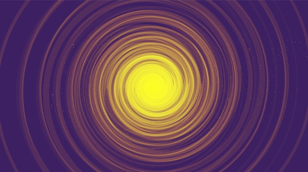 Trou noir en spirale comique pourpre sur fond noir de galaxie