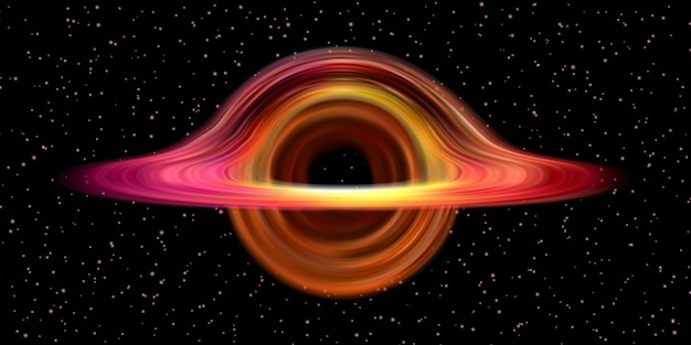 Trou noir structure réaliste de l'espace