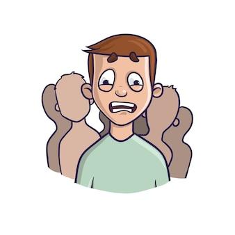 Trouble d'anxiété sociale, concept de phobie sociale.