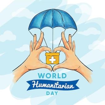 Trousse de premiers secours pour la journée mondiale de l'aide humanitaire