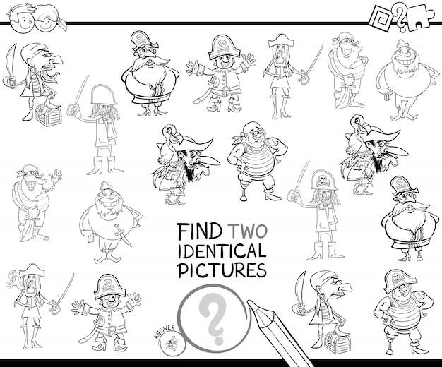 Trouver deux images de pirate identiques livre de couleurs