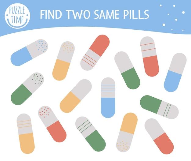 Trouver deux mêmes pilules