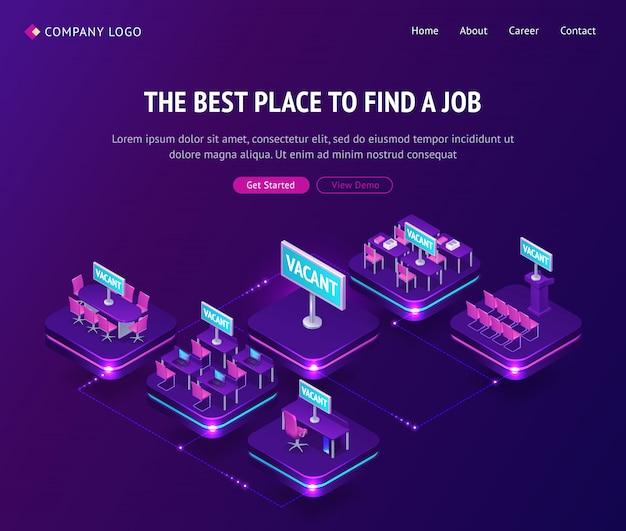 Trouver un emploi, une agence d'embauche, des lieux vacants isométriques