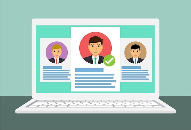 Trouver un emploi sur un ordinateur portable