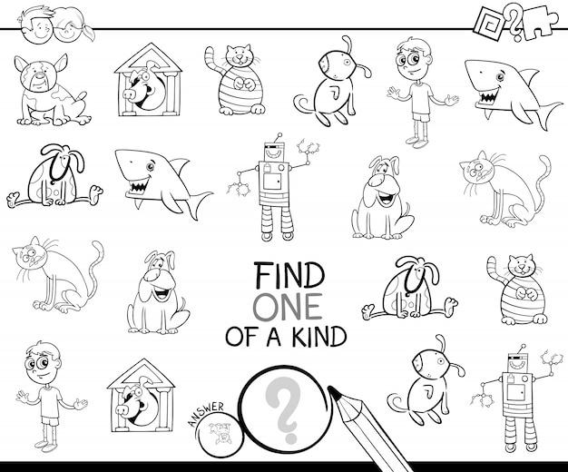 Trouver une image d'un jeu de coloriage gentil