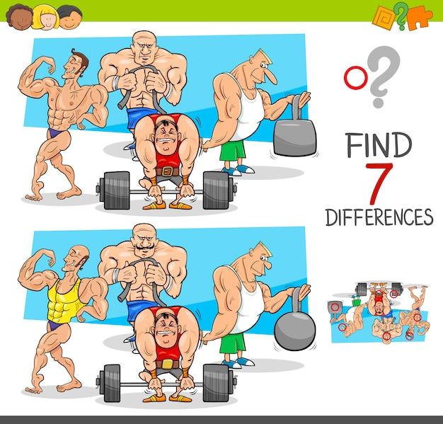 Trouver le jeu des différences avec les athlètes athlètes