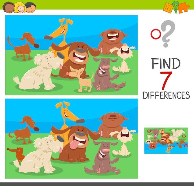 Trouver des jeux de différences avec des personnages de chien