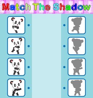 Trouver l'ombre correcte du panda