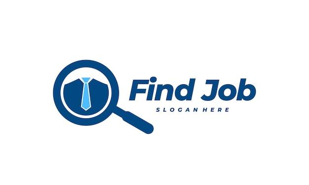Trouver un modèle de logo d'emploi conçoit illustration vectorielle