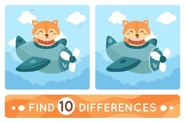 Trouver le pack de 10 différences