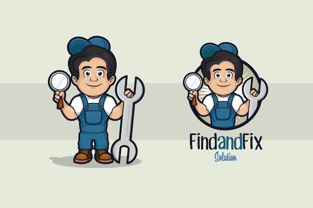 Trouver et réparer le logo du réparateur