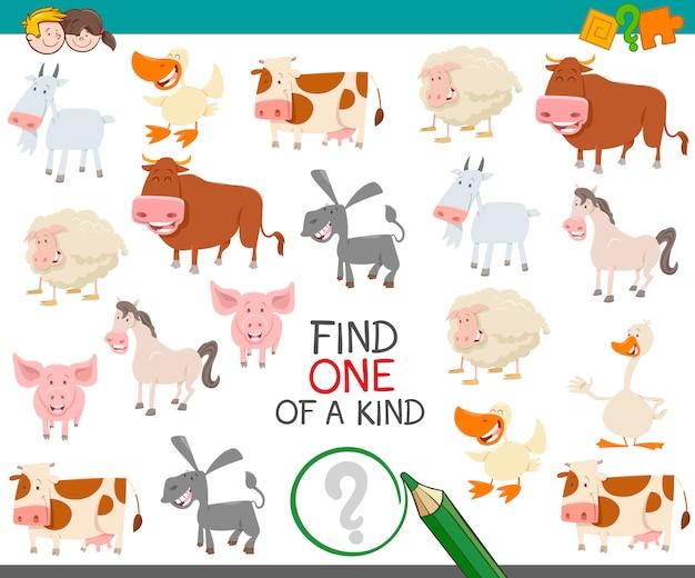 Trouver l'un d'une sorte d'animaux de la ferme