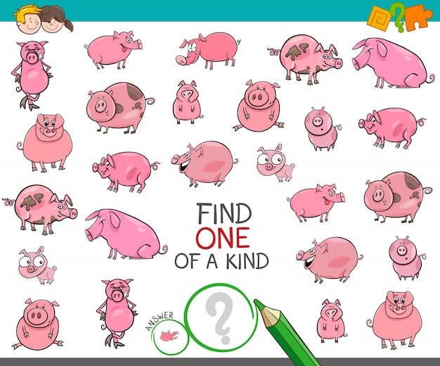 Trouver unique en son genre avec des caractères animaux cochons