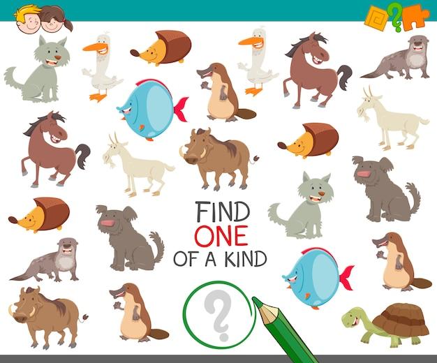 Trouver unique en son genre avec des personnages d'animaux