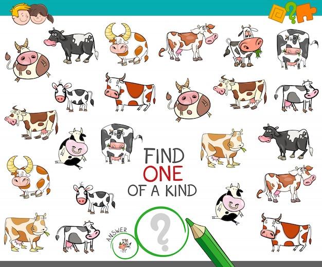 Trouver unique en son genre avec des personnages de vache
