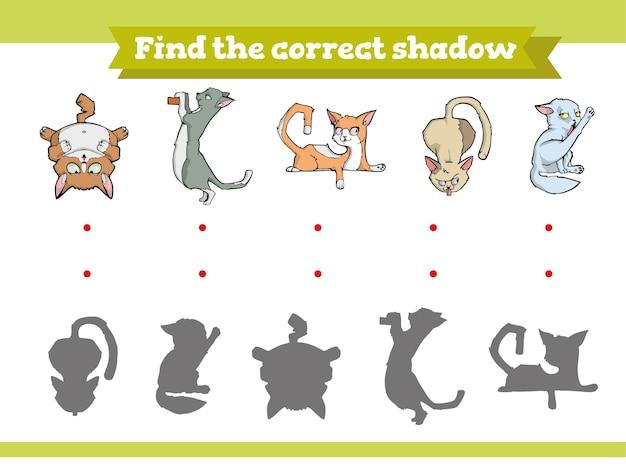 Trouvez le bon jeu éducatif d'ombre pour les enfants
