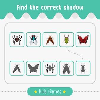 Trouvez le bon jeu d'ombre pour les activités éducatives