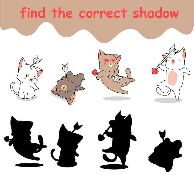 Trouvez la bonne ombre de chat avec le caractère de la flèche
