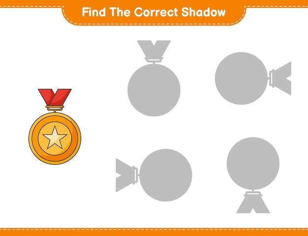 Trouvez la bonne ombre jeu éducatif pour enfants