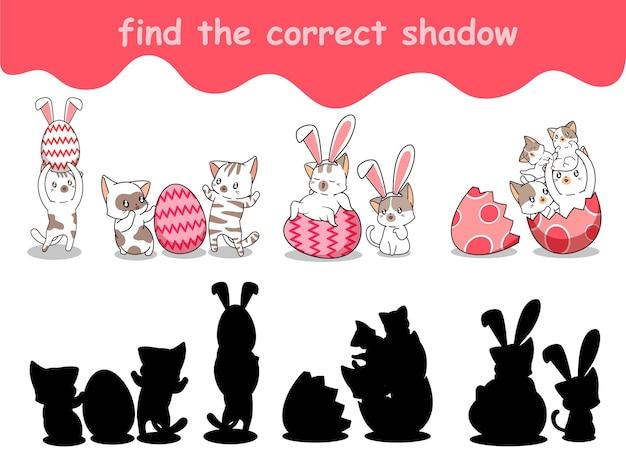 Trouvez la bonne ombre de lapin avec un œuf