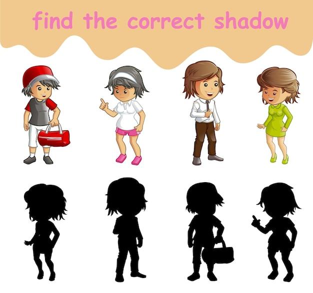 Trouvez la bonne ombre des personnages de dessins animés