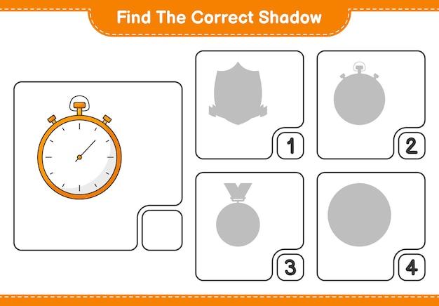 Trouvez la bonne ombre trouvez et faites correspondre la bonne ombre du jeu éducatif pour enfants chronomètre