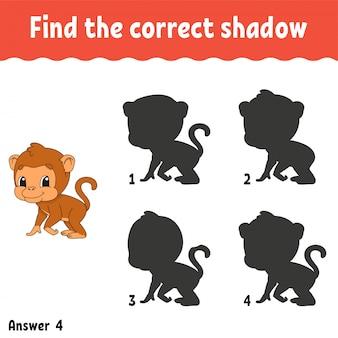 Trouvez la bonne ombre.