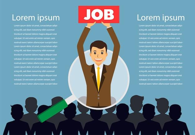 Trouvez la bonne personne pour le concept d'emploi