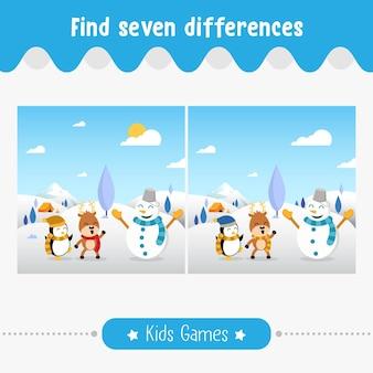 Trouvez des différences dans les images, des enfants pour les enfants d'âge préscolaire