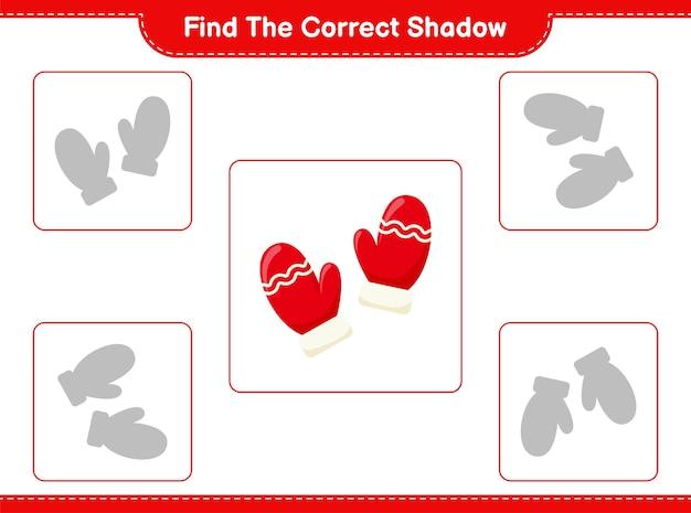 Trouvez et faites correspondre la bonne ombre de mitaines
