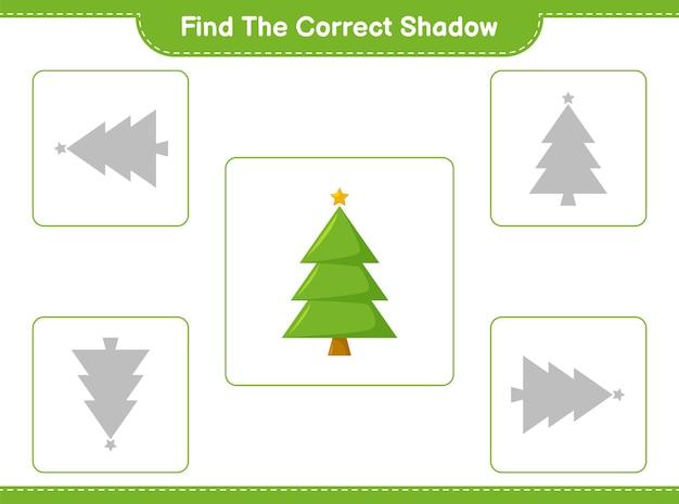 Trouvez et faites correspondre l'ombre correcte de l'arbre de noël