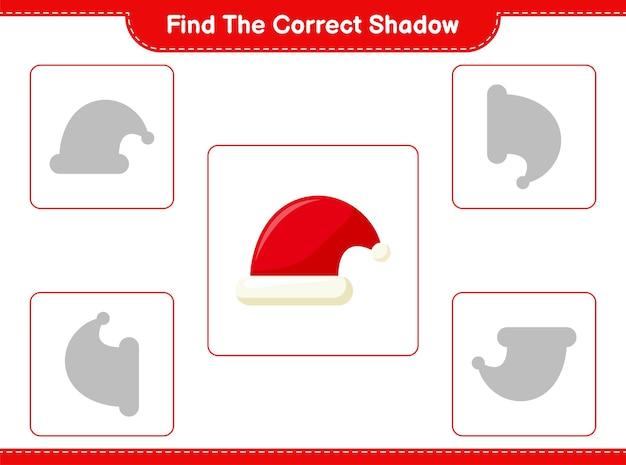 Trouvez et faites correspondre l'ombre correcte du bonnet de noel