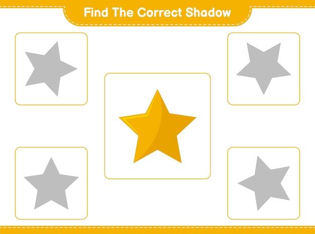 Trouvez et faites correspondre l'ombre correcte des étoiles
