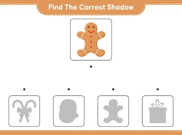 Trouvez et faites correspondre l'ombre correcte de gingerbread man
