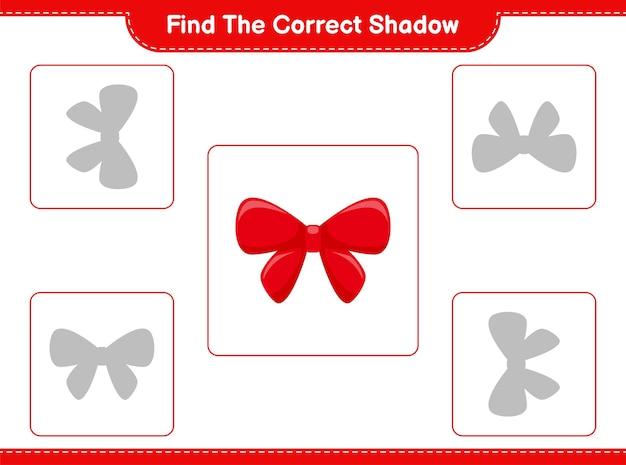 Trouvez et faites correspondre l'ombre correcte des rubans