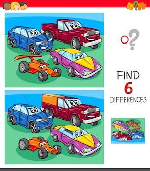 Trouvez le jeu des différences avec des voitures