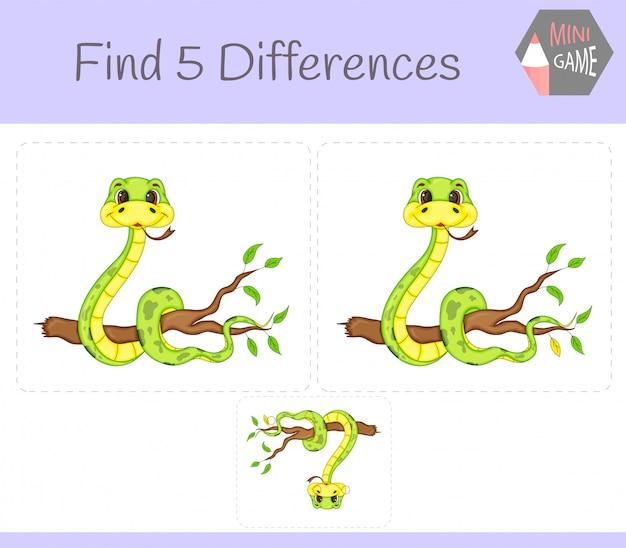 Trouvez le jeu éducatif sur les différences