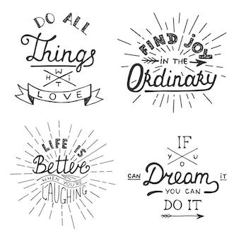 Trouvez de la joie dans l'ordinaire la vie est meilleure quand vous riez si vous pouvez le rêver, vous pouvez le faire