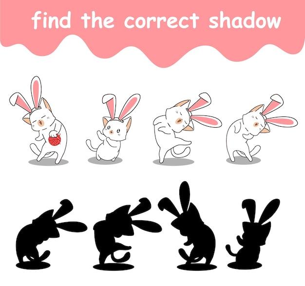 Trouvez l'ombre correcte des personnages de lapin