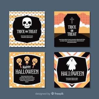 Truc ou traiter la collection de cartes halloween