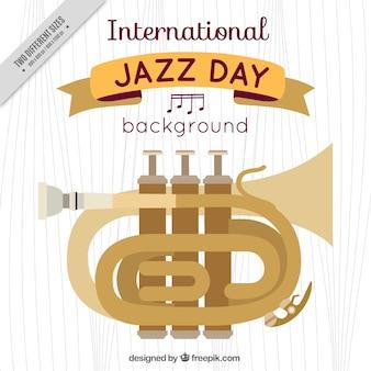 Trumpet fond de la journée internationale du jazz