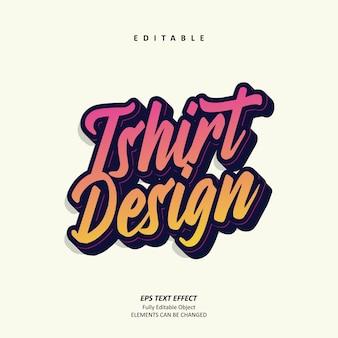 Tshirt desgin effet de texte graffiti rétro personnalisé modifiable premium premium vecteur
