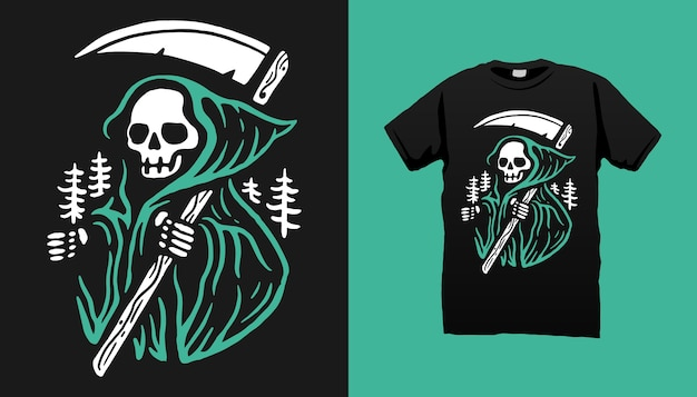 Tshirt maléfique squelette