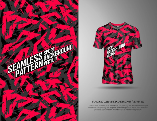 Tshirt sport design camouflage moderne pour la course, le maillot, le cyclisme, le football, les jeux