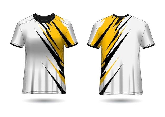 Tshirt sport design maillot racing pour l'uniforme du club vue avant et arrière