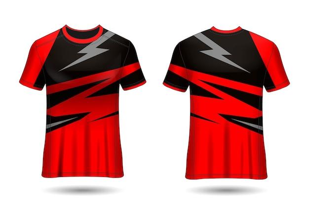 Tshirt Sport Design Maillot Racing Pour L'uniforme Du Club Vue Avant Et Arrière Vecteur Premium