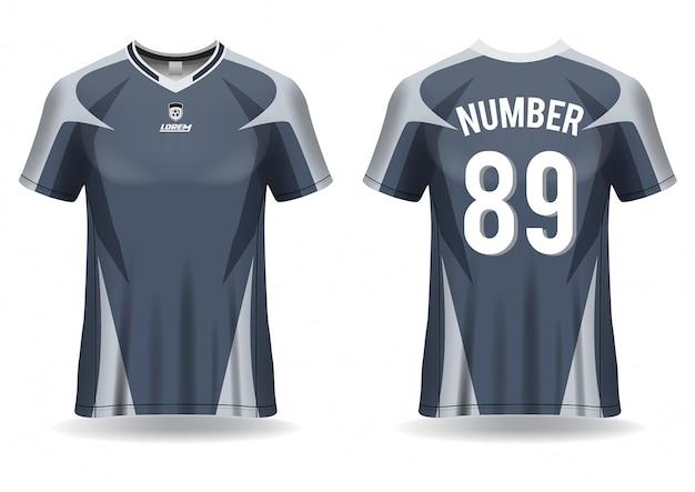Tshirt sport soccer jersey template