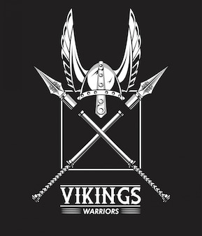 Tshirt vikings warriors imprimé