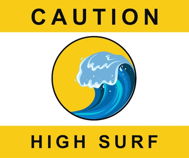 Tsumani vague dans un style cartoon plat. grande éclaboussure d'eau tropicale bleue avec de la mousse blanche. illustration vectorielle isolée sur fond blanc