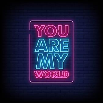 Tu es mon enseigne au néon sur mur de briques